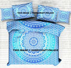 Indian Ombre Mandala Duvet Doona Quilt Cover With Pillow & Cushion Cover Set #indian #mandala #Ombre #Print #Duvet #Doona #quilt #blanket #comforter #cover #Queen #ethnic #traditional #throw #pillow #cushion #pouf #case #Slip #cover #bohemian #boho #hippie #gypsy #decor #home #room #India #traditional #free Shipping #handicraftpalace #love #life #soul #peace