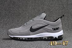 premium selection bf7fd a8f27 Cheap Off White X Nike Air Max 97.2 KPU Mens shoes  Gray  Black