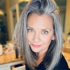 Grey Hair Styles For Women, Hair Color For Women, Hair Color And Cut, Cool Hair Color, Gray Hair Women, Hair Colors, Grey Hair Early, Long Gray Hair, Natural Hair Color Dye