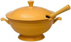 Amazon.com | Fiesta 75th Anniversary Soup Tureen, Marigold: Soup ...