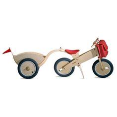 KOKUA Remolque de madera con ruedas