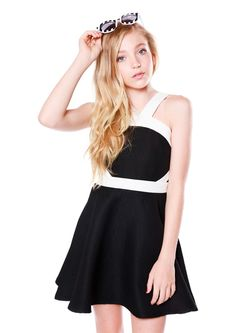 Allison Black- Tween Girl Dresses - MissBehaveGirls.com