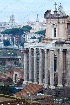 Roman Forum in Rome, Italy. Photos Temple of Antoninus and Faustina in Rome, Roman Forum. by YuriyB Roman Forum, Architecture Photo, Rome Italy, Photo Art, Taj Mahal, Temple, Cities, Building, Photos