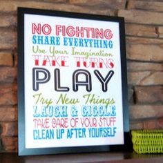This would be darling for the Fun Room. : ) Free sweet Printables | FREE sweet printables