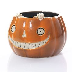 Boney Bunch Candy Dish and Jar Holder ... This grinning pumpkin adds whimsy and versatility to your Halloween display. Use as a jar candle holder or as a candy dish!