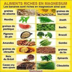 Les aliments riches en magnésium...