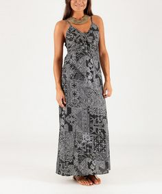 Loving this Black & White Floral Lattice Maxi Dress - Can't wait for summer!