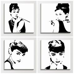 audrey hepburn painting ikea - Google Search
