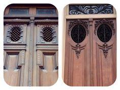 Detalles de 2 bellas puertas antiguas.Asunción-Paraguay