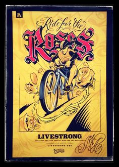 Auctioning off this very cool Ride for the Roses Poster (signed by Mr. Cartoon) to benefit the LIVESTRONG Foundation. Auction ends June 19th. Current highest bid: US$ 75 (US$ 25 will be added to the winning bid for registered shipping. Pick-up @ Austin LIVESTRONG Challenge in October is possible, too). See all FB auctions: http://www.facebook.com/henrikefh/media_set?set=a.10203832078543868.1073741842.1277218068type=1l=501dd88463