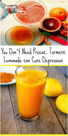 You Don't Need Prozac! Turmeric Lemonade Can Cure Depression