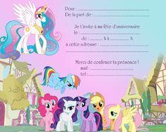 carton d'invitation petits poneys( anniversaire )