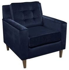 navy velvet chair from Target...super cost effective and posh