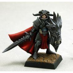 Reaper - Pathfinder Miniatures: Anti Paladin Warhammer 40k, Warhammer Fantasy, Reaper Miniatures, Fantasy Miniatures, Death Knight, Sculptures, Lion Sculpture, Fantasy Battle, Miniature Figurines