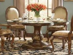 Formal Dining Room Centerpiece Ideas Best Of 22 Fancy Image Pertaining to Dining Table Centerpiece Round Dining Table Sets, Luxury Dining Tables, Glass Top Dining Table, Dining Table Design, Dining Room Sets, Small Dining, Fine Dining, Dining Room Table Centerpieces, Table Decor Living Room