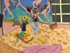 FAUVISMO. 1909 Bodegón (naturaleza muerta) con la danza. Henri Matisse. The Hermitage, St. Petersburgo.
