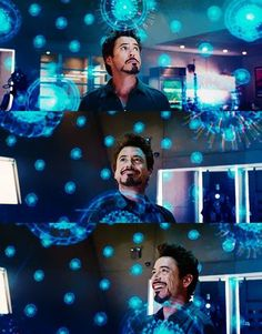 Iron Man / Tony Stark (RDJ) - his smile in this scene made my heart melt.