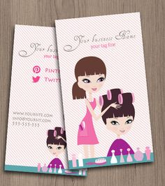Hair salon business card by NaomiGraphics on Etsy, €15.00