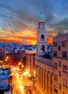 Greenwich Village at sunset