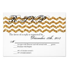 Shopping3x5 R.S.V.P. Reply Card Gold Glitter Chevron Strip Invitationwe are given they also recommend where is the best to buy