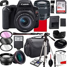 Canon EOS Rebel SL3 DSLR Camera with 18-55mm f/4-5.6 is STM Zoom Lens 64GB MemoryCase Tripod and More (28pc Bundle) Click the picture for more.. New 2020 Products Trends Phone Case Amazon Ebay Wide Angle Photography, Photo Lens, Optical Image, Canon Eos Rebel, Wide Angle Lens, Zoom Lens, Card Reader