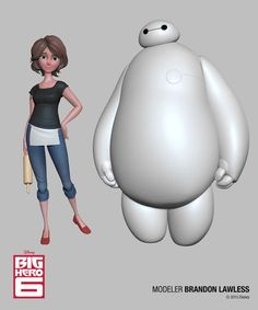 Disney Big Hero 6 and Feast Zbrush Characters - 3d Digital Art, Art