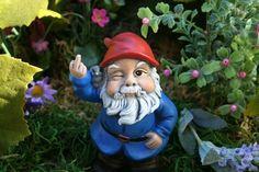 Garden Gnome Flipping The Bird Concrete Rude Gnome Statues for Sale