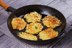These Sweet Potato and Cinnamon Latkes are a great flavor twist to a delicious traditional dish. Whether you are preparing these to be enjoyed during Hanukkah or just on a typical evening, you will be delighted in the flavor combos provided! Best Hash Brown Recipe, Homemade Hashbrown Recipes, Potato Galette, Breakfast Meat, Beef Bacon, Carlsbad Cravings, Burger And Fries, Food Shows