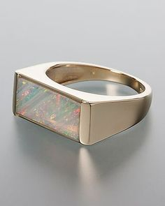 Jetzt goldenen Kristallopal-Ring online bestellen! #Schmuck #opal #Terra #Opalis #jewellery #jewelry #ring #crystal
