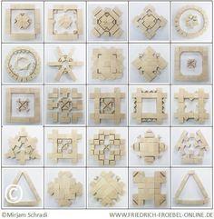 25 Forms of Beauty, Gift 5, Froebel by Mirjam Schradi - Friedrich Fröbel Spielgaben Spielgabe 5 Schönheitsformen Mandalas aus Bausteinen