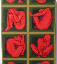 Chacun sa case IV Huile sur toile, 60x50 cm Blog, Oil On Canvas