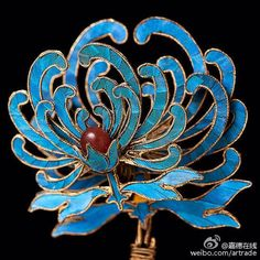 traditional Chinese kingfisher hairpin
