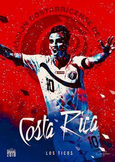 Costa Rica : Los Ticos = The Ticos! World Cup 2018 Teams, Fifa World Cup 2018, World Cup Russia 2018, Soccer Cup, Youth Soccer, Soccer Stars, World Football, Football Soccer, Costa Rica