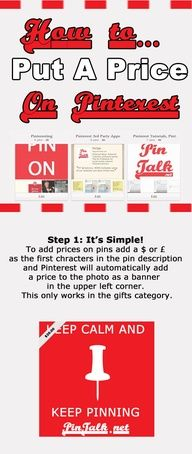 Infographic How to Show in Price on a Pinterest Pin #SocialMedia