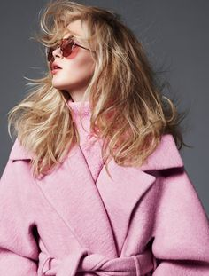 fashion editorials, shows, campaigns & more!: living out loud: ireland basinger baldwin by thomas whiteside for us elle september 2013 CARVEN Pink Fashion, Fashion Shoot, Editorial Fashion, Womens Fashion, Fall Fashion, Cutler And Gross, Looks Style, My Style, Wrap Style