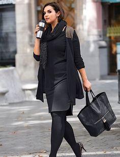 sheego Style Jerseyrock - schwarz