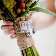 What a beautiful Idea.  My parents and sister can still be at my wedding, besides, in spirit.