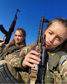 Beautiful Women in Ukraine Army - Ukrainian Military Girls - Gun girls - Women in Uniform
