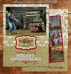 Burlap & Lace Photo Christmas / Holiday Card / Digital Christmas Cards / Printable Christmas Cards /  Custom Christmas Cards / DM2974