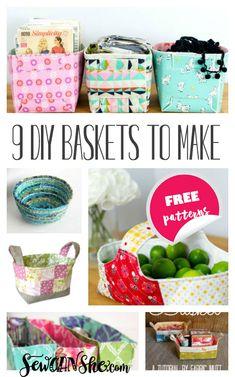 9 Must Make DIY Fabric Basket Patterns — SewCanShe | Free Sewing Patterns for Beginners