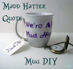 The Cwafty Blog: Tutorial Tuesday: Mad Hatter Coffee Mug