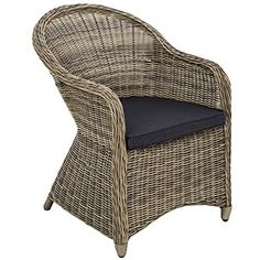 Ideal TecTake Luxury aluminium wicker chair seat armchair garden conservatory poly rattan natural cushion TecTake http