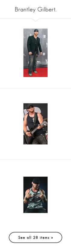 """""""Brantley Gilbert."""" by hayles-rayne1 ❤ liked on Polyvore featuring shirts, tank tops and tops"""