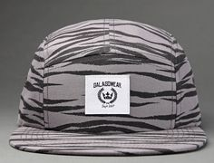 Zebra 5-Panel Hat by GALAGOWEAR