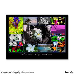 Travel agent collage business card business cards business and hawaiian collage business cards colourmoves