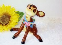 Vintage Porcelain Bambi Fawn Baby Deer by NaturesUniqueBotique