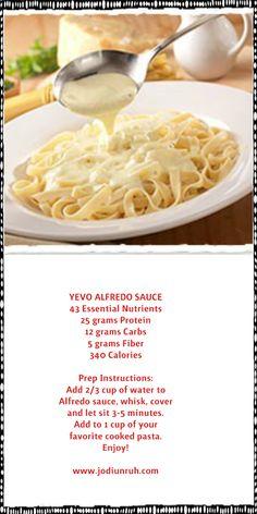 Yevo's Alfredo Sauce! YUM!!!!  http://www.jodiunruh.com