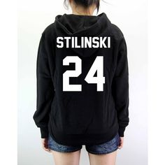 Stilinski 24 Shirt Hoodie Sweater Unisex Cotton 100% Hand made silk... ❤ liked on Polyvore