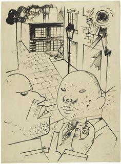 Dispute by moonlight 1920 George Grosz
