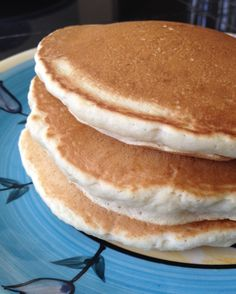 Fat free vegan pancakes. 1C flour, 2 TBsp sugar, 1.5Tsp baking powder, 3/4C water, 2 tsp vanilla extract. Do not over mix. Batter will be thick. Use on a nonstick pan. High carb and fatfree. Mcdougall starch solution. No oil, no butter.